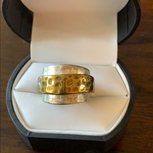 Premier Designs jewelry silver & gold ring size 6